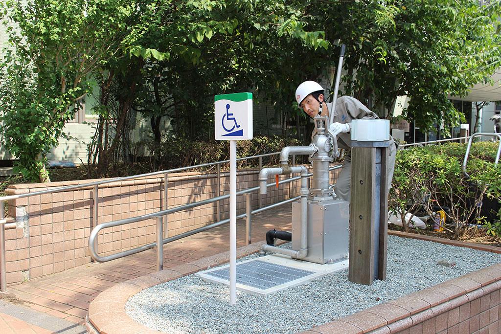 災害用水洗トイレを寄贈(青葉区・都筑区)